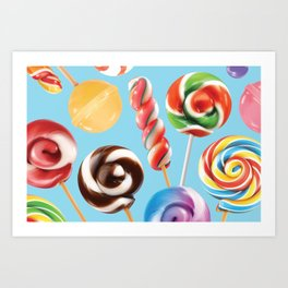 Lollipop Explosion Art Print