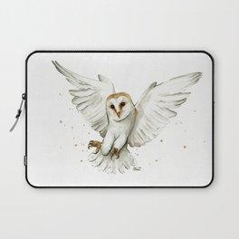 Barn Owl Flying Watercolor | Wildlife Animals Laptop Sleeve