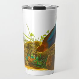 Cowbird Bird Illustration Travel Mug
