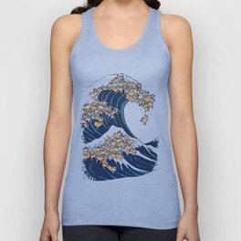 The Great Wave of Shiba Inu Unisex Tank Top