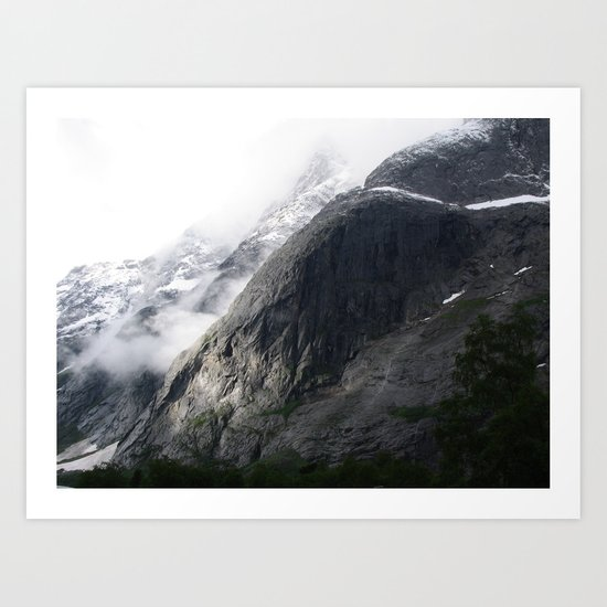 Mountain landscape #norway Art Print