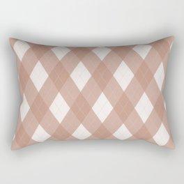 Sherwin Williams Cavern Clay SW7701 Argyle Plaid, Diamond Pattern Rectangular Pillow
