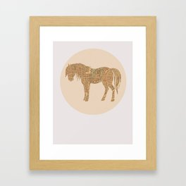 Percheron in Paris Framed Art Print