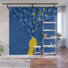 Bluefish With A Hint Of Yellow Wall Mural