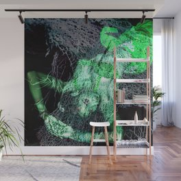 Oriental Beauty in Green Wall Mural