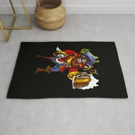 Pirate Sailor Drinking Beer Party Rug