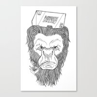 bigfoot Canvas Prints featuring Bigfoot  by Observer