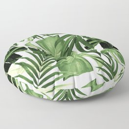 Tropical Jungle Leaves Pattern #12 #tropical #decor #art #society6 Floor Pillow