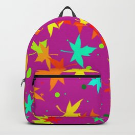 Forever Autumn Leaves purple 4 Backpack