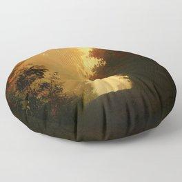 Into the Light, Landscape Art Floor Pillow