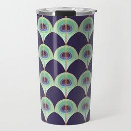 Peacock Feather Art Deco Travel Mug