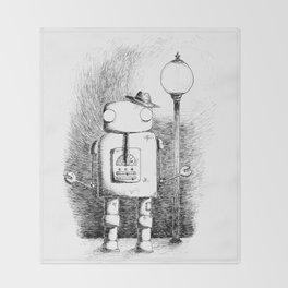 Hobo Robot Throw Blanket