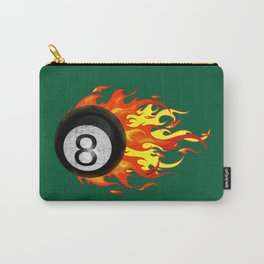 Flaming 8 Ball Carry-All Pouch