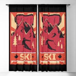 Ski Propaganda   Winter Sports Blackout Curtain