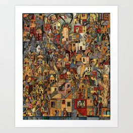 Lost In A Ghost Town Art Print