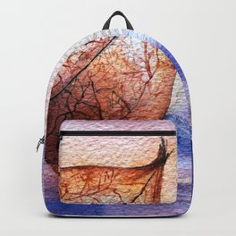 Watercolor Physalis in Light Backpack