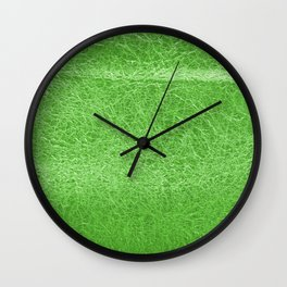 Crinkled Green Foil Texture Christmas/ Holiday Wall Clock