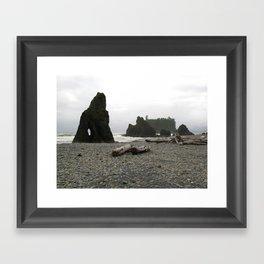 Olympic Beach Framed Art Print