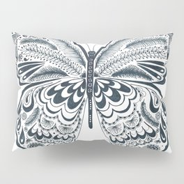 Blue Butterfly Mandala Pillow Sham