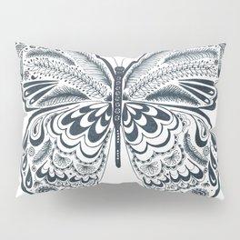 Blue Butterfly Mandala Pillow Sham