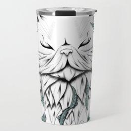 Poetic Persian Cat Travel Mug