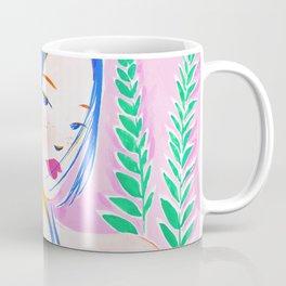 Girl and Aroid Palm Coffee Mug