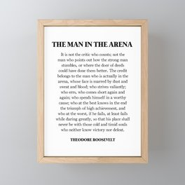The Man In The Arena, Theodore Roosevelt, Daring Greatly Framed Mini Art Print