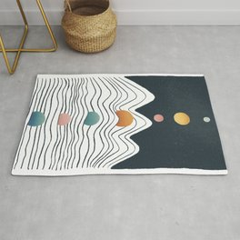 Planet Earth and Solar line Rug