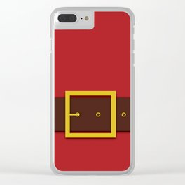Santa's Belt - Christmas Illustration Clear iPhone Case