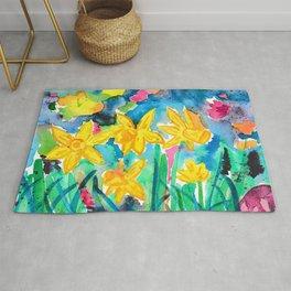 Magical Daffodils Rug