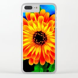 Orange Marigold Clear iPhone Case