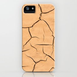 Yellow Paint Cracks iPhone Case