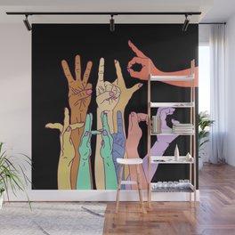 Wild Thing Hand Alphabet Illustration Wall Mural