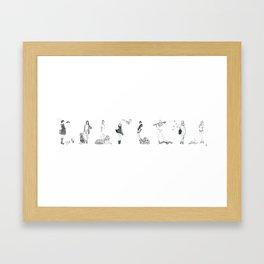 Fashion Show Framed Art Print