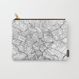 Leeds Map White Carry-All Pouch