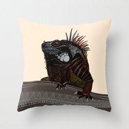 iguana ecru Throw Pillow