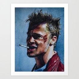 Brad Pitt/Fight Club Art Print