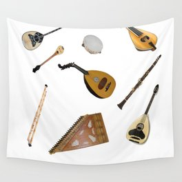 Traditional Music Wall Tapestry