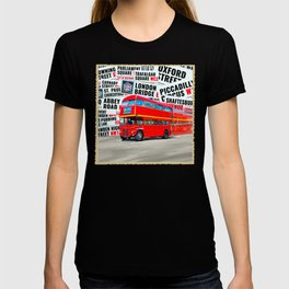 Classic London - Red Double Decker Bus T-shirt