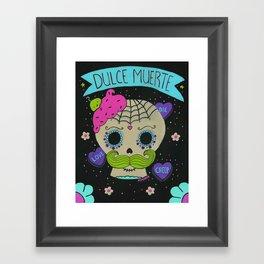 Dulce Muerte Sugarskull Framed Art Print