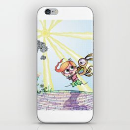 Laughing Along the Path - One Boy and a Toy iPhone Skin