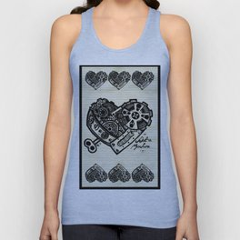 Not a Machine Texture Unisex Tank Top