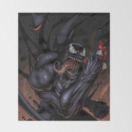 Spider and Venom, man. Throw Blanket