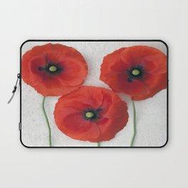 Three red Poppies III Laptop Sleeve