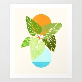 Tropical Symmetry II / Abstract Sunset Landscape Art Print