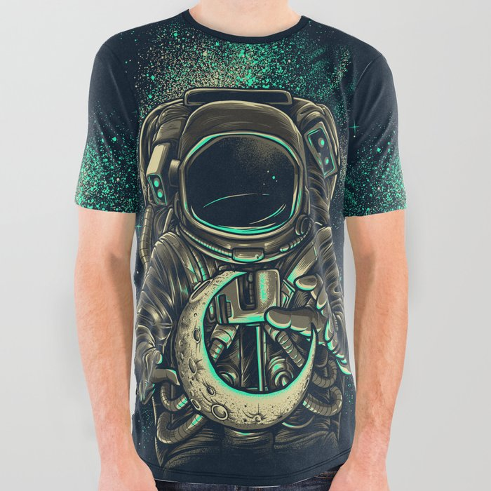Moon Keeper All Over Graphic Tee