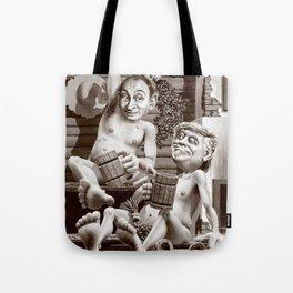 Putin and Trump in the Russian bath Tote Bag