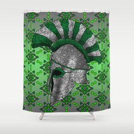 Spartan Helmet Shower Curtain