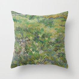 Long Grass with Butterflies Throw Pillow