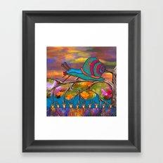 Doodlage 09 - It's A Snails Life Framed Art Print